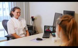 Een voorbeeld van een gezamenlijk videoconsult met kinderarts, huisarts en ouder